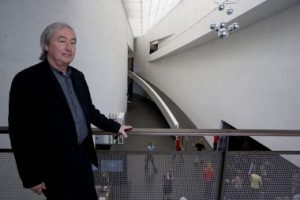 Steven Holl at the Museum of Contemporary Art Kiasma, Helsinki.