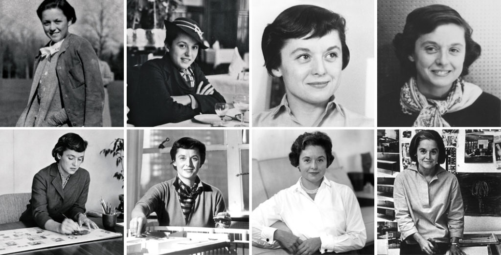 Some portraits of Florence Knoll throughout the years. Images from the Knoll Archive.