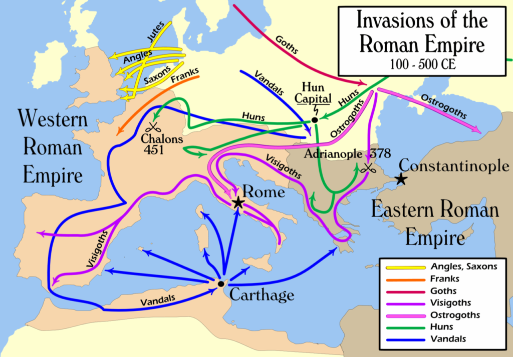 Basic view of second- to fifth-century migrations.
