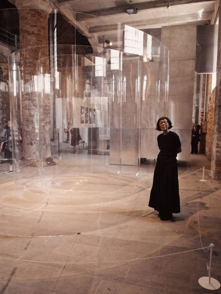 "Kazuyo Sejima and his installation at ""La biennale di Venezia"" 2018 - Photo by Andrea Carloni."
