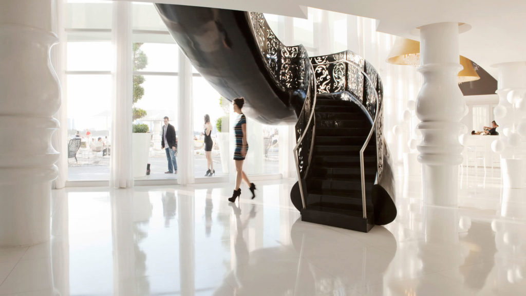 The Mondrian South Beach Hotel in Miami, by Marcel Wanders.