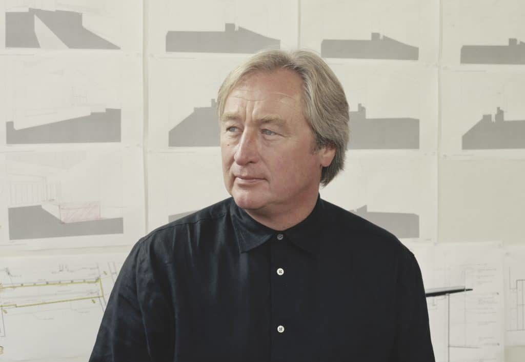 A portrait of the American architect and artist Steven Holl.