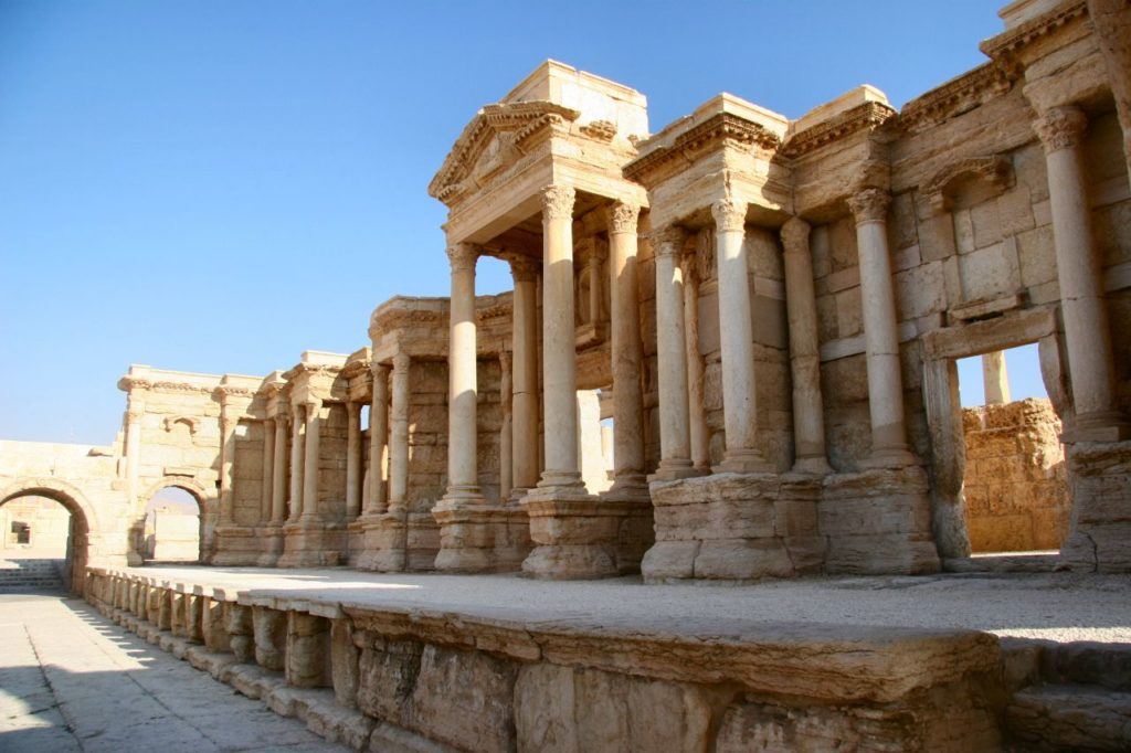 The ancient city of Palmyra was an important trading center and possibly Roman Syria's most prospering city