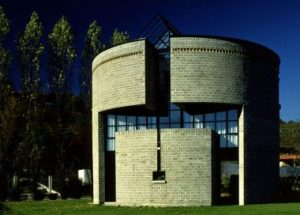 Casa Rotonda, designed by Mario Botta in 1980.