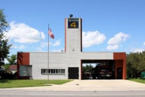 Fire Station #4, designed by Robert Venturi in 1968.