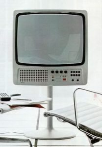 Hartmut Esslinger's Color Television Set for Wega, 1971.