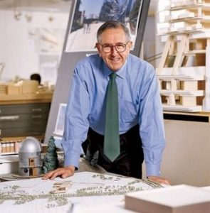 A portrait of the Argentine American architect César Pelli.
