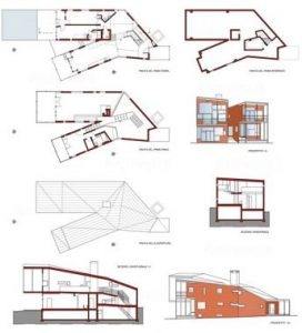 Technical drawings of the Y House.