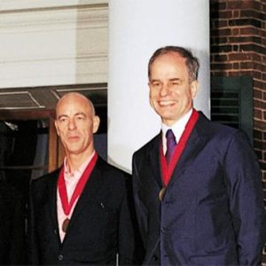 Herzog & de Meuron at the Pritzker award ceremony in 2001.