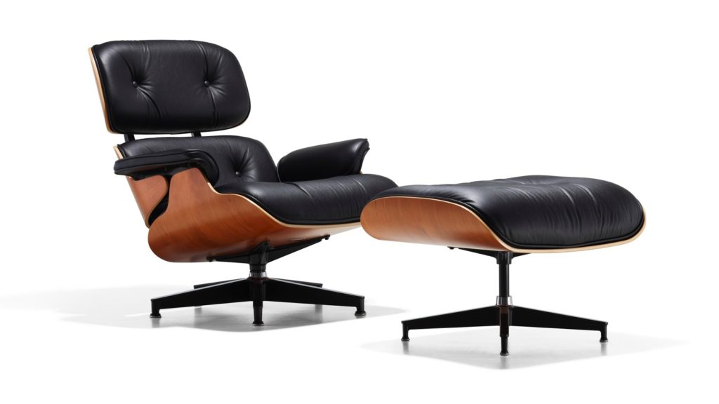 The Eames Lounge Chair& Ottoman by Charles and Ray Eames, 1956.