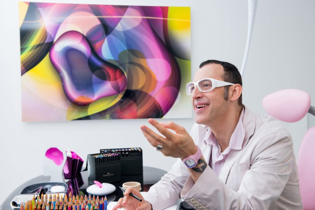 Karim Rashid in his studio.
