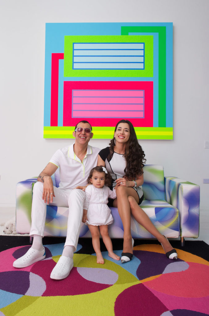 Karim Rashid together with his wife and daughter.