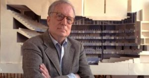 A portrait of Robert Venturi (1925-2018).