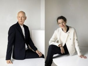 Left: Ben van Berkel – Founder / Principal Architect of UNStudio. Right: Caroline Bos – Co-founder / Principal Urban Planner of UNStudio.