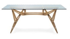 The Glass and OakTable also known as the Reale Table, by Carlo Mollino, 1949.