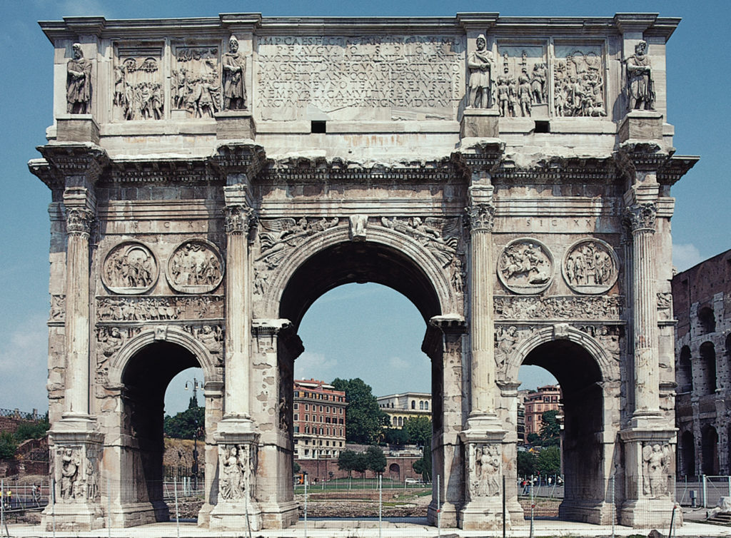 The ARch of Constantine, in Rome. One of the last Architectural landmarks of the West Roman Empire.