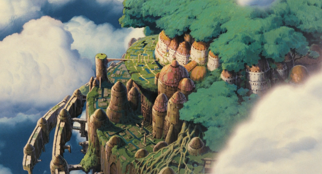 "The utopian castle of Laputa, ""Castle in the Sky"" (1988)"