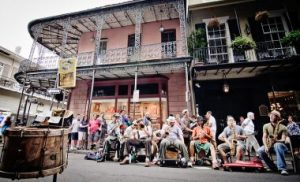 Photo of artists playing in New Orleans