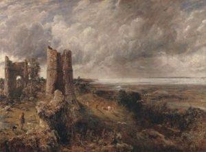 "John Constable, ""Hadleigh Castle, The Mouth of the Thames-Morning after a Stormy Night"", (1829). Constable is one of the major English landscape artists."