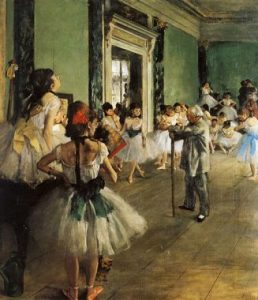 "Edgar Degas, ""The Dance Class (La Classe de Danse)"", (1873-1876)."