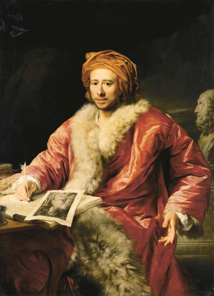 "Anton Von Maron, ""Portrait of Johann Joachim Winckelmann"" (1717-1768)"
