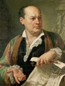 "Pietro Labruzzi ""Posthumous Portrait of Giovanni Battista Piranesi"" (1720-1778)."