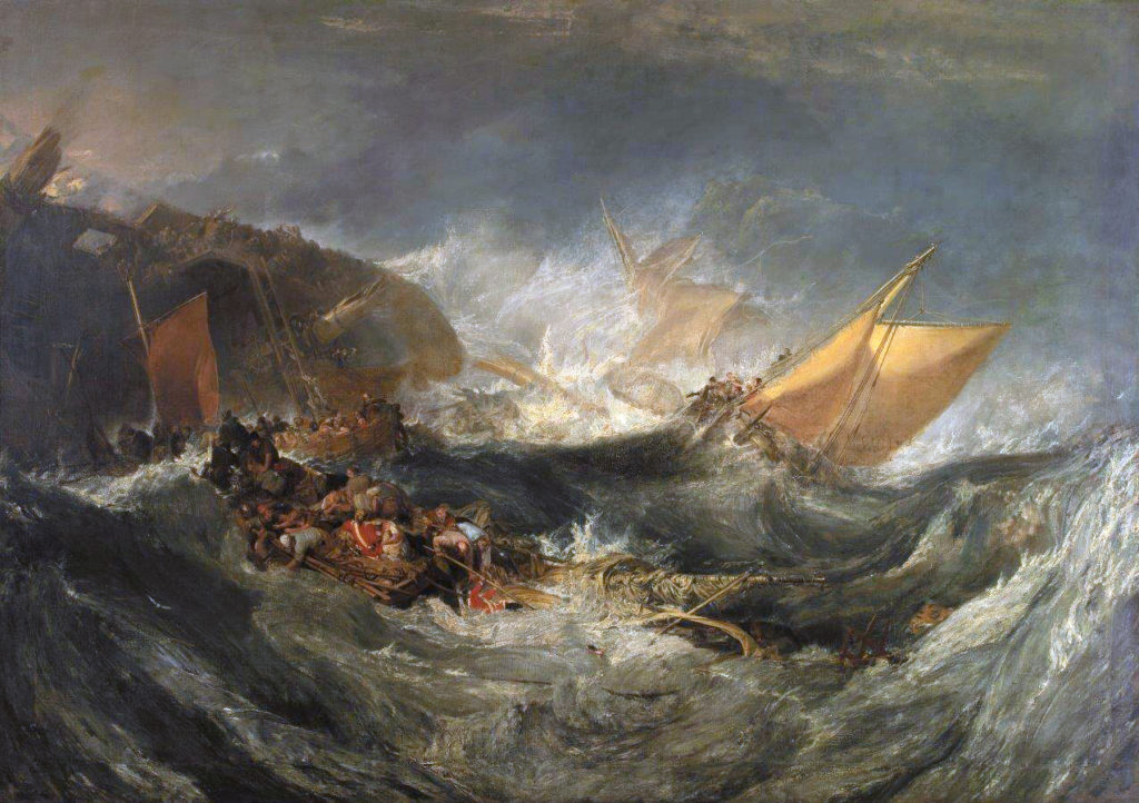J. M. W. Turner, The Wreck of a Transport Ship, 1810