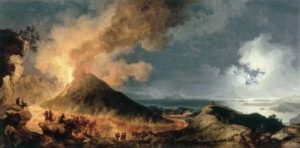 "Pierre-Jacques Volaire, ""An Eruption of Vesuvius by Moonlight"" (1774)."