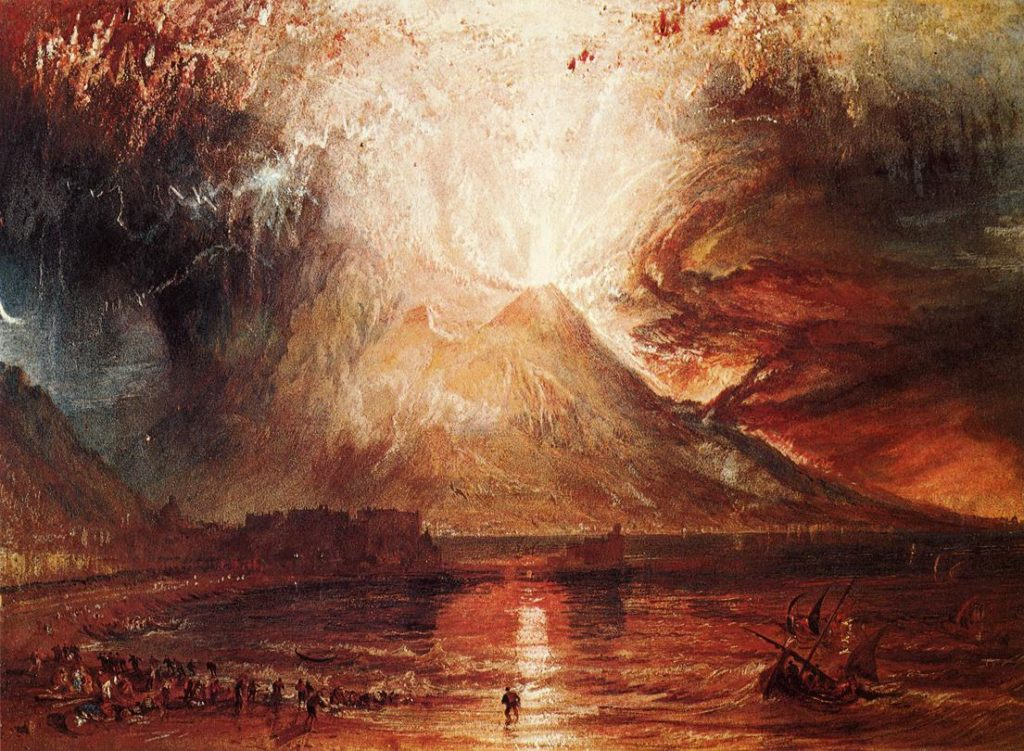 J. M. W. Turner, Eruption of Vesuvius, 1817