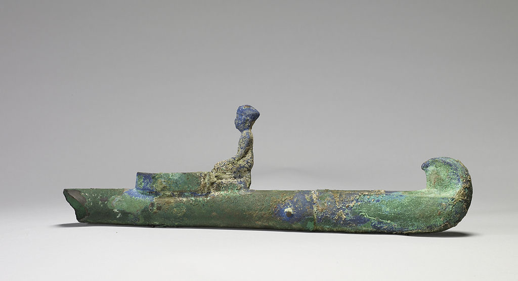 An Egyptian incense burner, dating back to the 7th century BC.