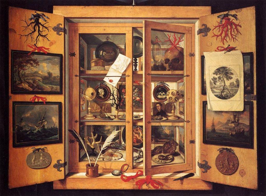 "Domenico Remps, ""Cabinet of Curiosities"", (1690)."