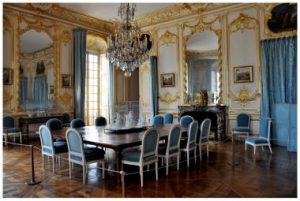 "Versaille, ""blue dining room""."