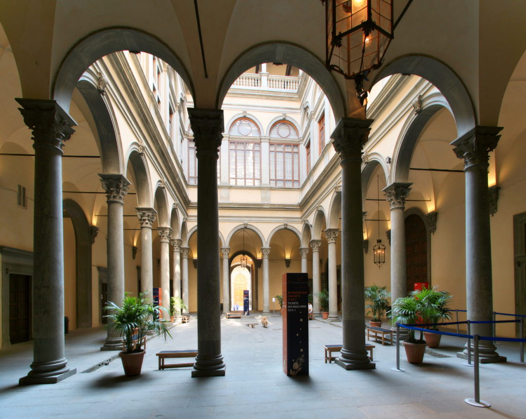 Interior of Palazzo Strozzi in Florence.