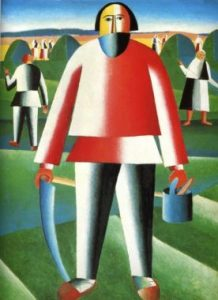 "Kazimir Malevich, ""Mower"", 1930."