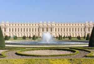 Front view of Versailles, the model of Baroque palace.