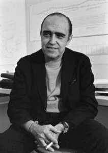 Portrait of Oscar Niemeyer.