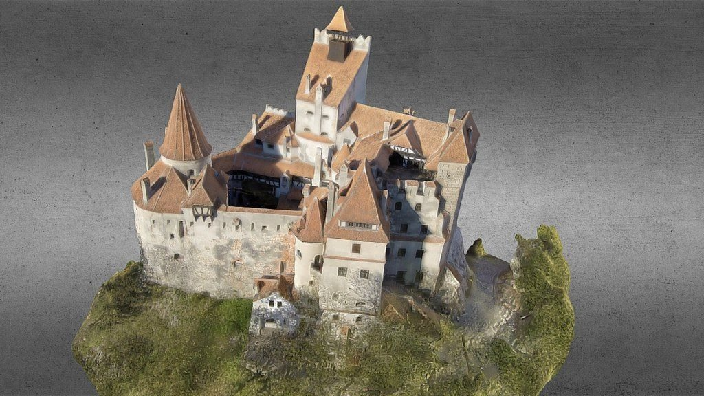 3D photogrammetry recostruction of Bran Castle, Transylvania.