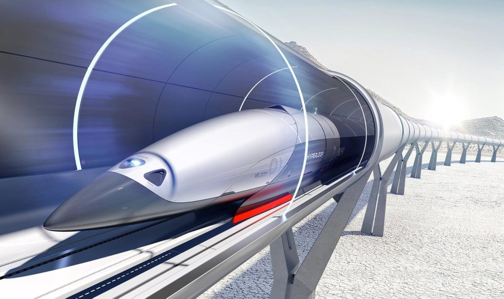 Concept on how an hyperloop could be.