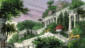 Hanging Gardens of Babylon featured climbing self-watered terraces.