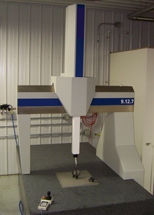 Coordinate measuring machine or CMM.