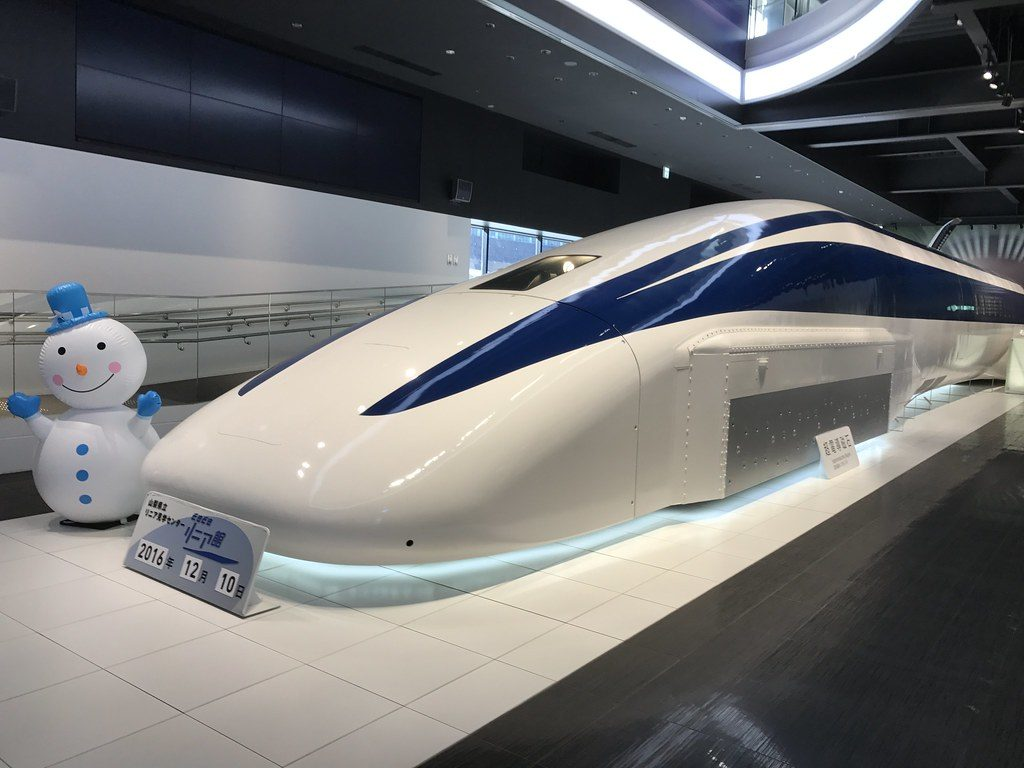 Japanese maglev train. This model inspired the concept of vactrain.