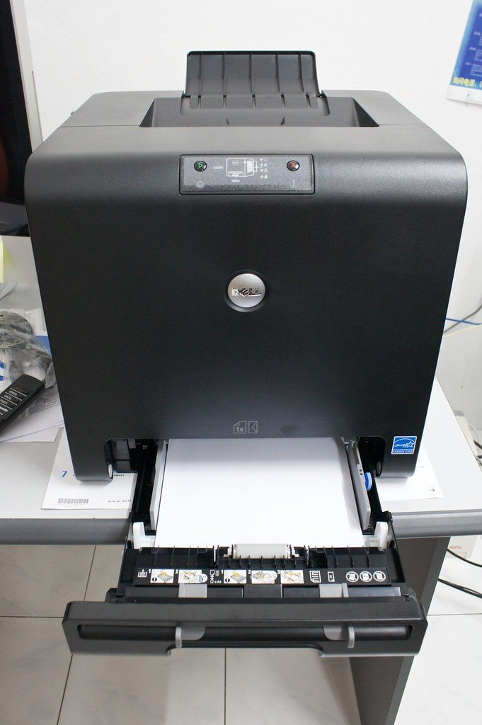 Laser printer by Dell.