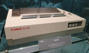 Canon BJ-80 Bubble Jet, commercialized in 1985.