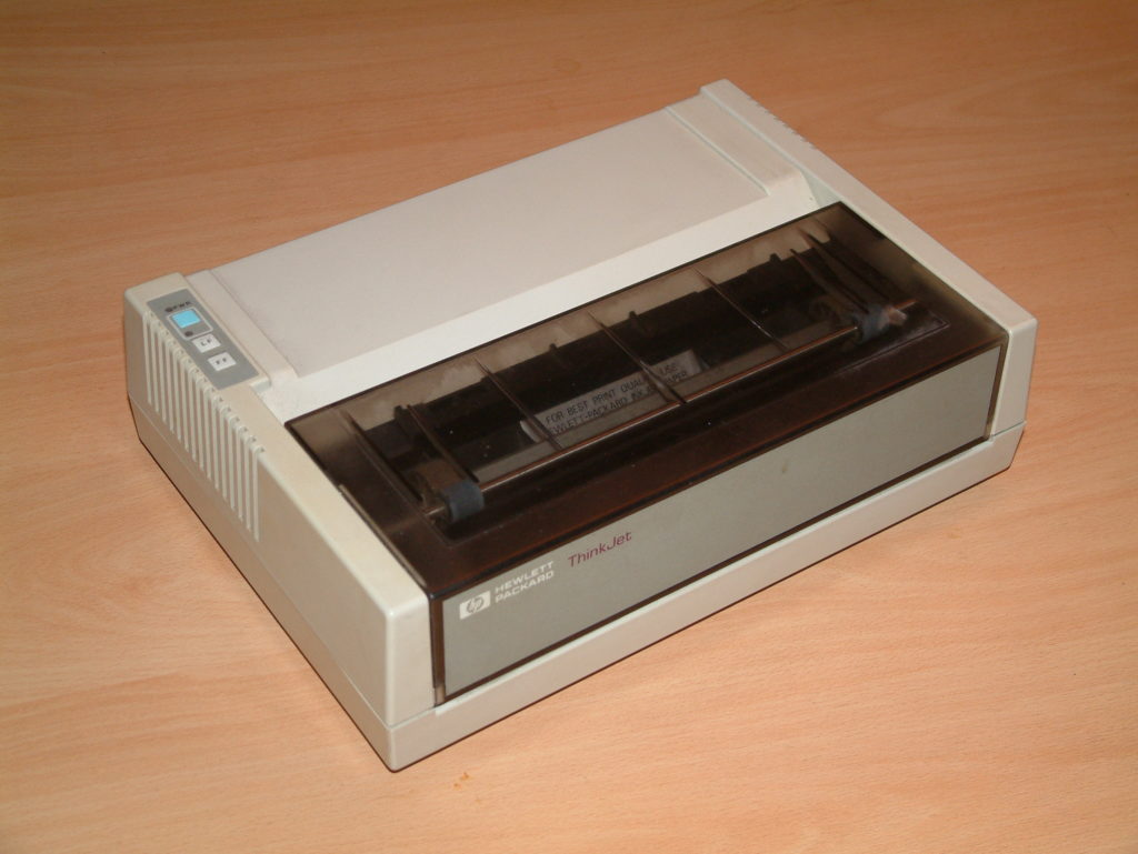 Hewlett-Packard, Think Jet printer.