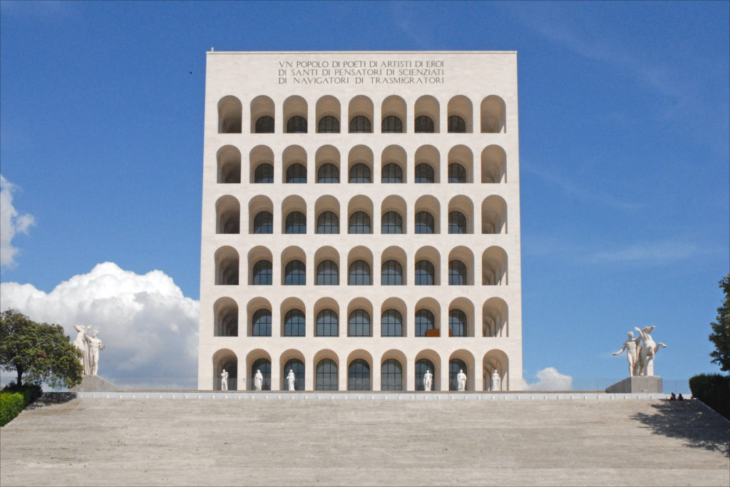 Palazzo della Civiltà Italiana, also known as Square Colosseum, EUR district.