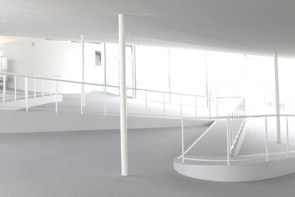 Interior of Rolex Learning Center by SANAA.