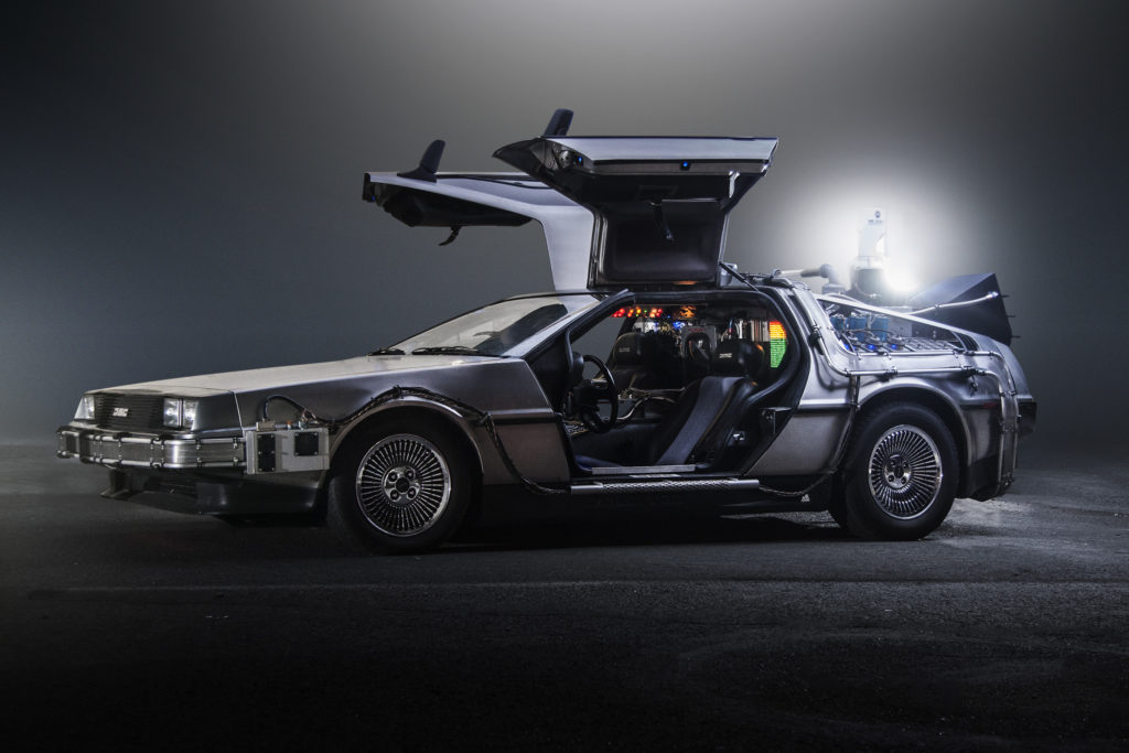 "DMC DeLorean Time Machine, from ""Back to the Future""."