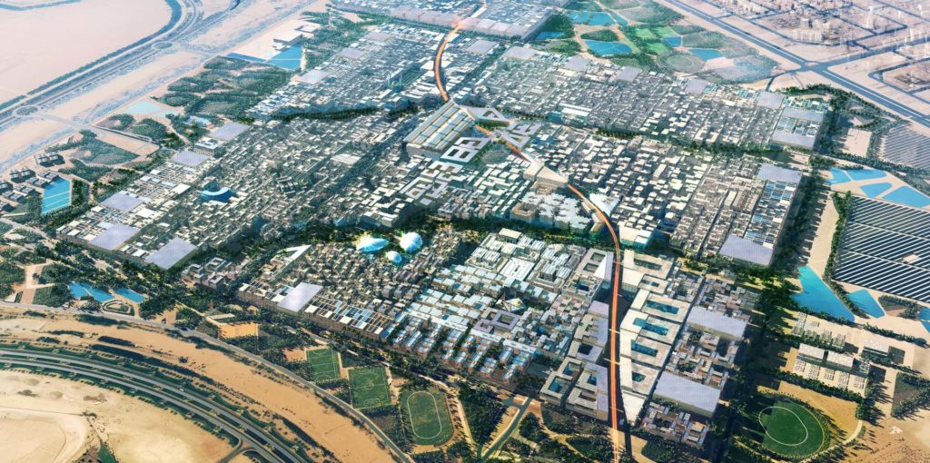 The cubic final plan of Masdar City.
