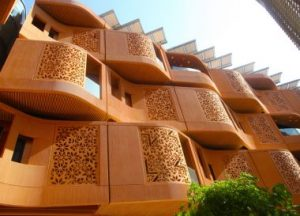 Typical arabesque pattern in Masdar City.