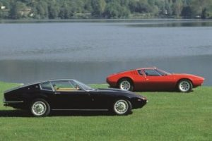 The praised Maserati Ghibli and De Tomaso Mangusta.